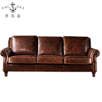 Vintage Furniture The Factory Heated Leather Sofa A110
