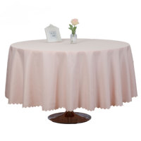 Blush pink wedding banquet decorative table cloth table cover