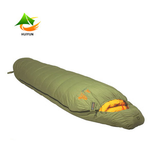 Winter Outdoor Portable Lightweight Waterproof Polyester Fabric Adult Mummy Sleeping Bag Goose Down Sleeping Bag -15 Degree