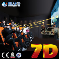 Double stereoscopic control 7d entertainment mobile cinema