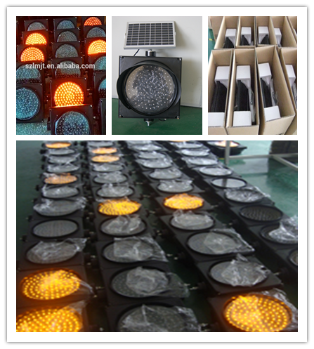 Super bright lights yellow color flashing solar warning light for road safety