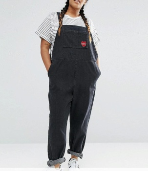 30299cd7b1 Royal wolf bib overalls manufacturer black vintage wash embroidered patch  plus size overalls denim dungaree