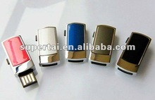 Mini Metal push-pull USB drive promotion gift metal slip usb flash drives