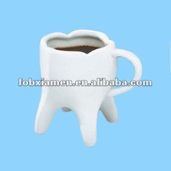 Tooth Shaped Pottery Crazy Mugs - Buy Crazy Mugs,Unusual