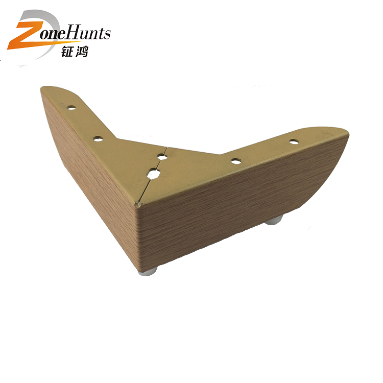 sofa leg footings furniture hardware accessories rustic decorative metal furniture feet small angle wooden furniture legs