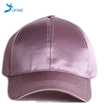 a2eb92c7259 Blank Plain Shiny Satin 6 Panels Pink Baseball Caps - Buy Pink ...