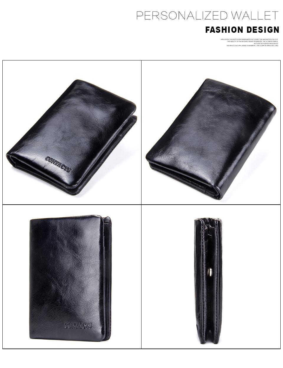 China Wholesale Black Vintage Leather Men Money Bifold Wallet