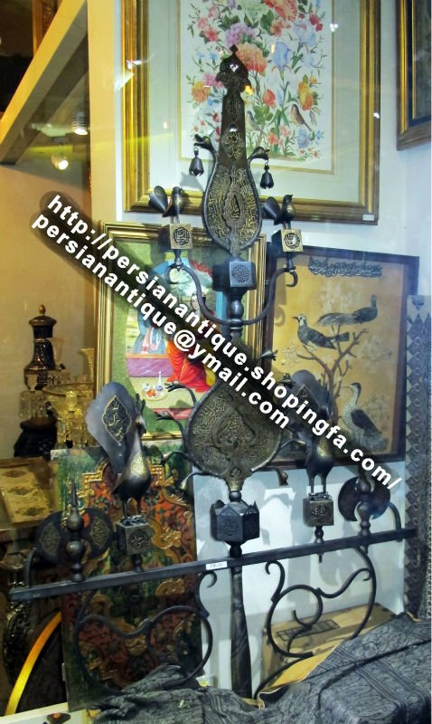 Antique Persian Steel Alam Safavid Art Islamic Calligraphy Holy Quran  Isfahan - Buy Persian Antique Product on Alibaba com