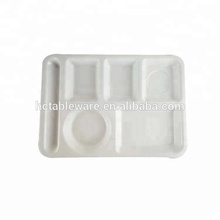 Imitation ceramic melamine tableware,5 compartment tray for cafeteria