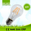 2014 wholesale E26/27/B22 dimmable 6 watt filament led light bulb