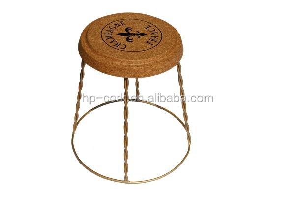 Champagne gabbia tavolo tappo di sughero sgabello con filo cv j16