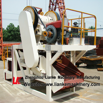 Complete set jaw crusher with screening machine,jaw crusher and screening machine