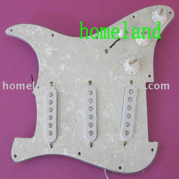 New high quality WHITE prewired Guitar Pickguard , for SSS