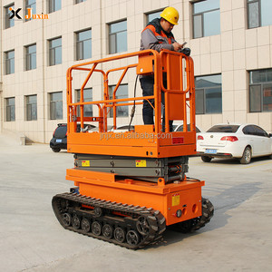 4m 6m 8m 300kg china best selling factory direct sale hydraulic crawler tracked electric battery charger scissor lift for sale