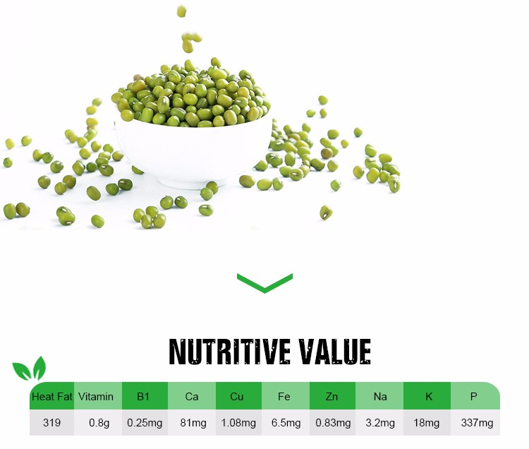 China natural organic greeen mung beans specification