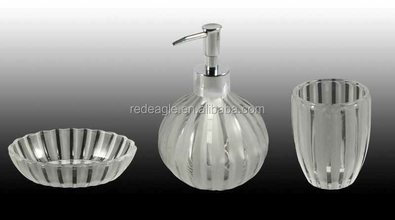 Glass Bathroom Accessories Sets Glass Bathroom Accessories Sets