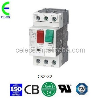 Motor protection circuit breaker rated current 20 25a for 3 phase motor protection