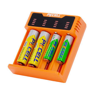 PKCELL Factory price Colorful battery charger 8341 li-ion nimh and nicd battery charger