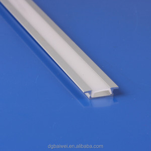 L041embedded good view and good sale led strip tube with aluminum profile and frosted pc cover