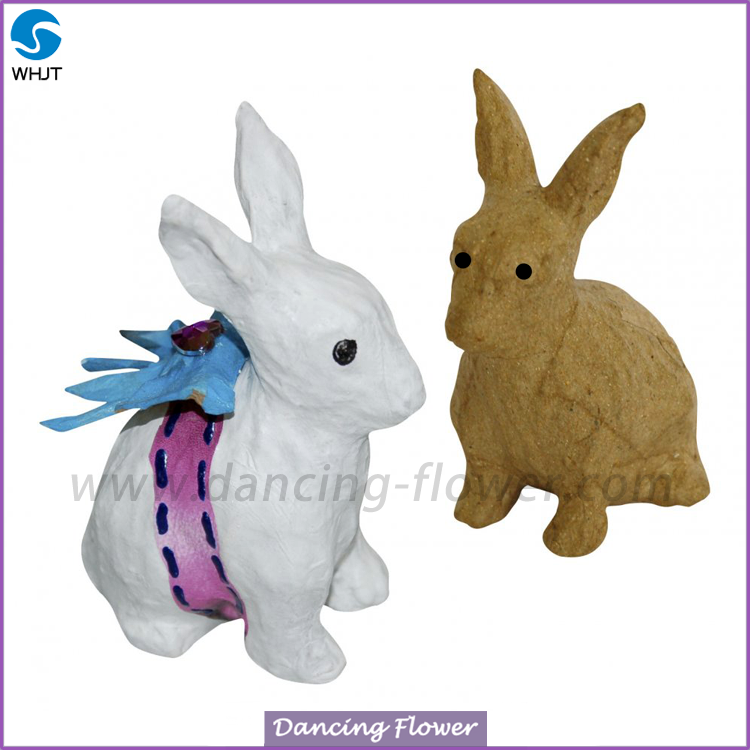 Hot sale handmade artificial animal low price paper <strong>rabbit</strong>