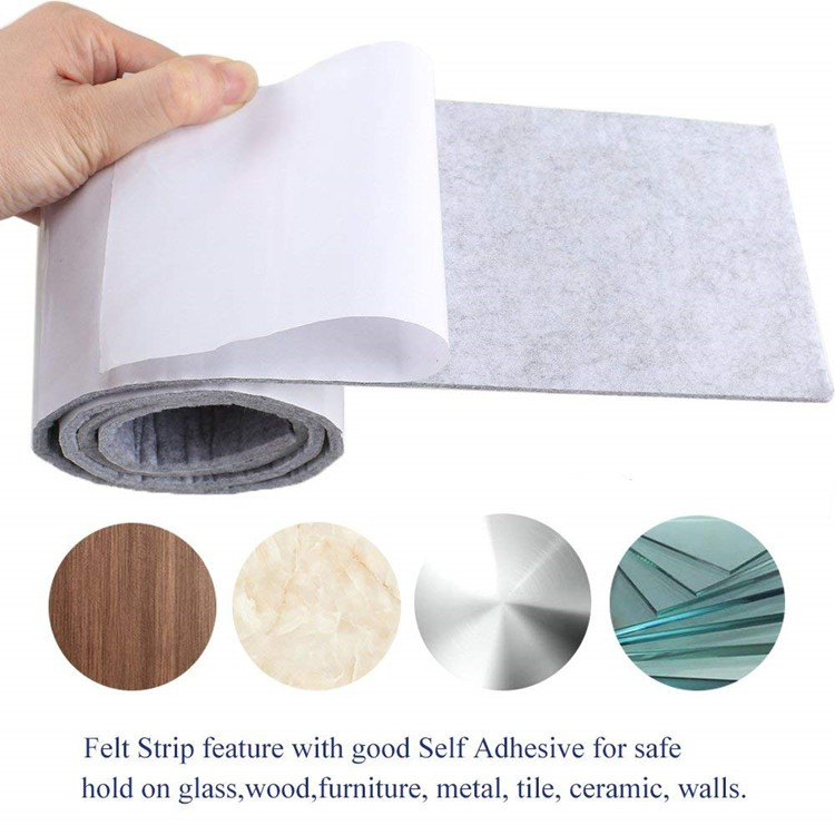 Furniture Chair Pads Self Adhesive Sticky Felt Strips Roll