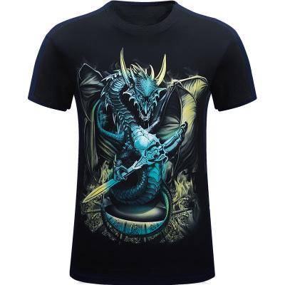 Sıkıştırma t-shirt, dijital baskı erkek giysileri, atletik giyim erkek t-shirt