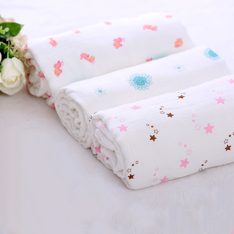 Baby wholesale muslin wraps reusable muslin swaddle for Wholesale baby fabric