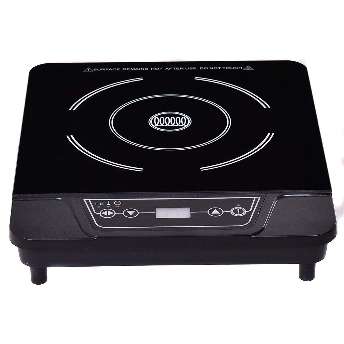 GHP 500W-1800W Plastic Body Countertop Induction Cooker with 10-Level Temperature