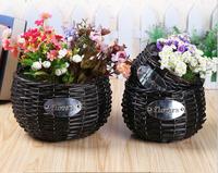 handmade garden rattan wire basket wholesale wicker baskets