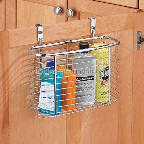 Over The Kitchen Cabinet Door Basket Holder Storage Organizer