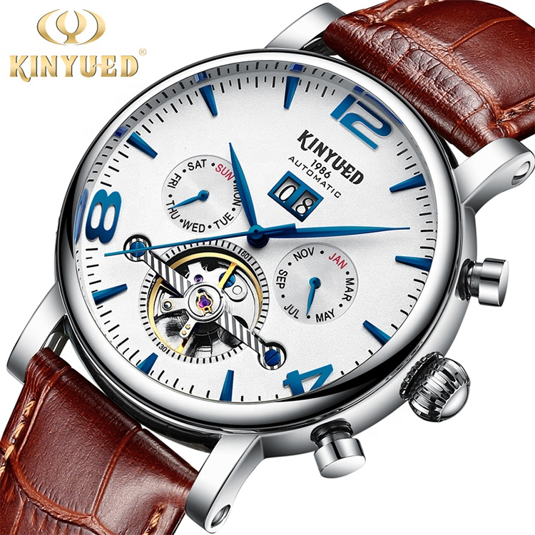 Alibaba.com / High quality fashion leather automatic mechanical mens watch tourbillon mechanical watch automatic