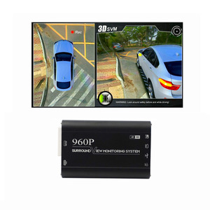 Real HD 3D car 360 surround bird view avm system 4x180 degree cameras