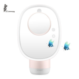 CE Certificated Zinc Alloy Frame Hollywood Style LED lighted Mirror With Humidifier And 5X/7X Mirror