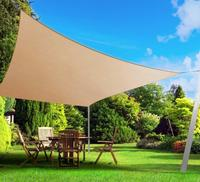 Waterproof Triangular Patio Sun Shade Sail Combination Net Awning Canopy