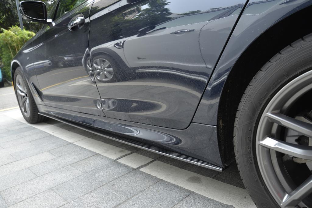 סיבי פחמן רכב קדמי שפתיים ספוילר עבור BMW 5 סדרת G30 G31 G38 520i 530i 540i M-ספורט 2017 -2018