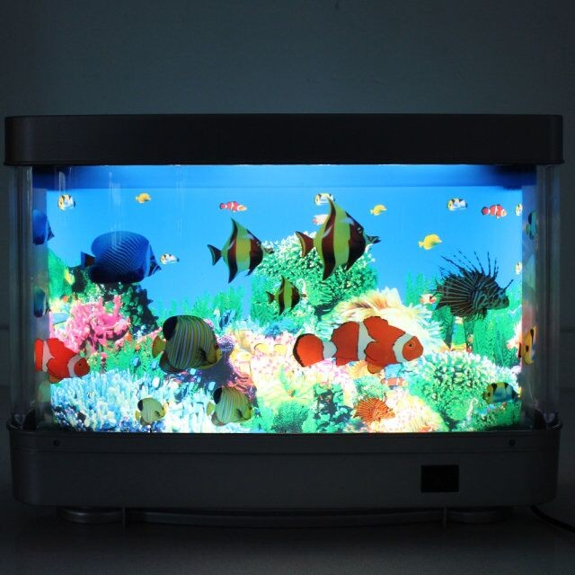 Plastic Aquariums Fish Tank 3d Lifelike Moving Fish Lamp For ...