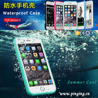 Wholesale Shockproof Dirtproof Durable Rubber TPU Waterproof Phone Case For iPhone 7/6 8 Water Proof Case