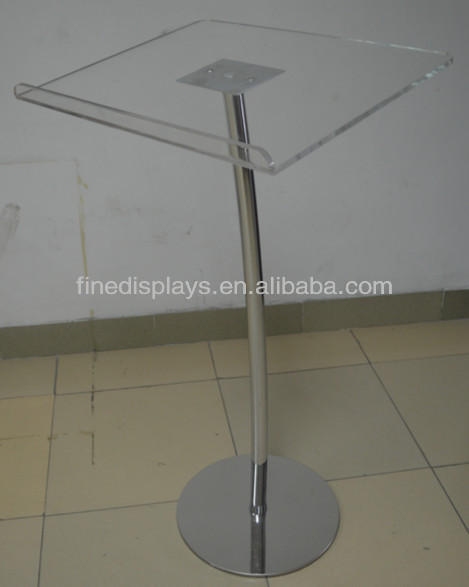 Acrylic Lectern with Metal Curved Pole and Base (AL-F-047)