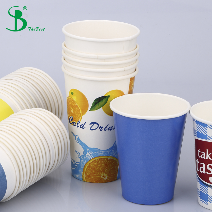 FOB Shenzhen Cold beverages 12oz 16oz eco-friendly disposable paper cup