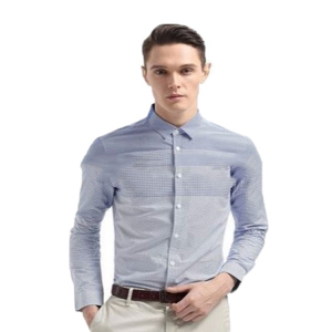 Factory supplier custom printing 100%cotton latest dress shirt designs for men