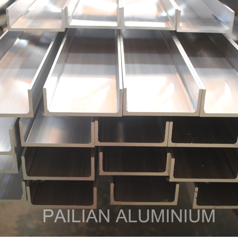 Customized made 6000 series u shape aluminum section / Aluminum U shape profile/U Channel