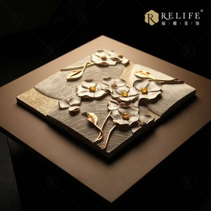 Fresh nature wall art handmade 3d relief painting