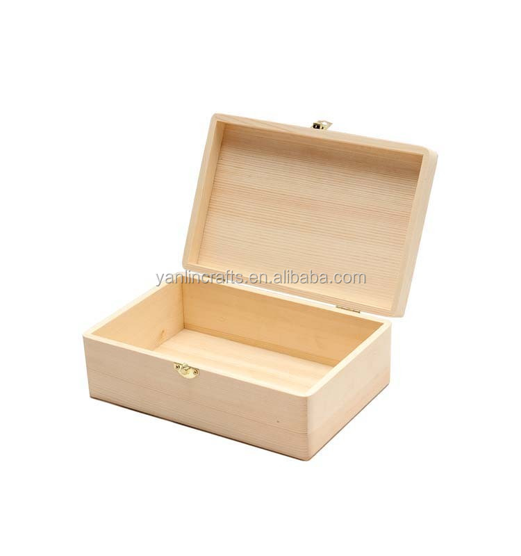 Antique cheap balsa wood packaging box wholesale