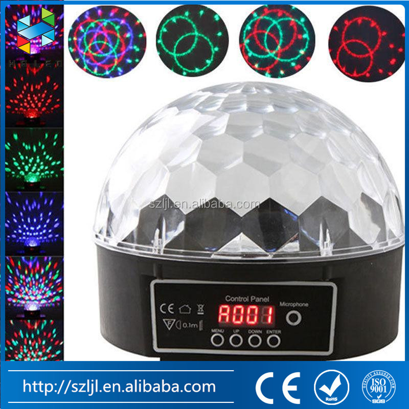 Full color DMX512 control 6W LED crystal magic ball LED Stage light