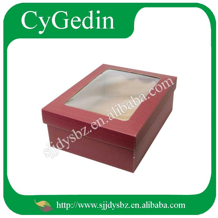 Folding Custom Logo Printed Paper Gift Box With A Window Manufacture