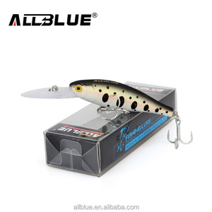 ALLBLUE Floating Fishing Lures Shad Minnow 60mm 7.3g Artificial Bait 2.5M Plastic 3D Eyes Wobbler Bass Lure Fishing Tackle peche