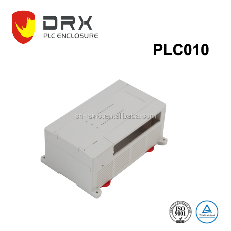 Cheap quick mounting plastic box din rail pcb enclosure