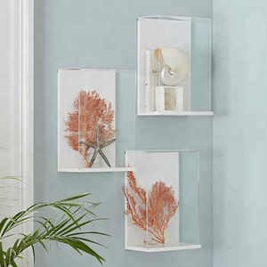 Hanging Wall Acrylic Collect Display Frame Clear Acrylic Shadow Box Frame With Dust Cover