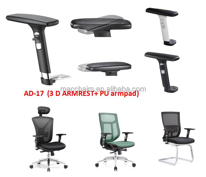 Barato piezas de Repuesto 3D ajustable Reposabrazos Silla de Oficina ...
