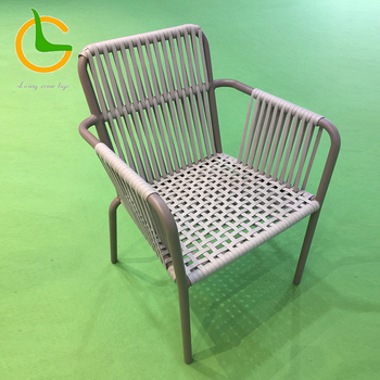 China Supplier Modern Appearance Aluminum Leg Rope Woven Dining Room Chair JZ24 7301